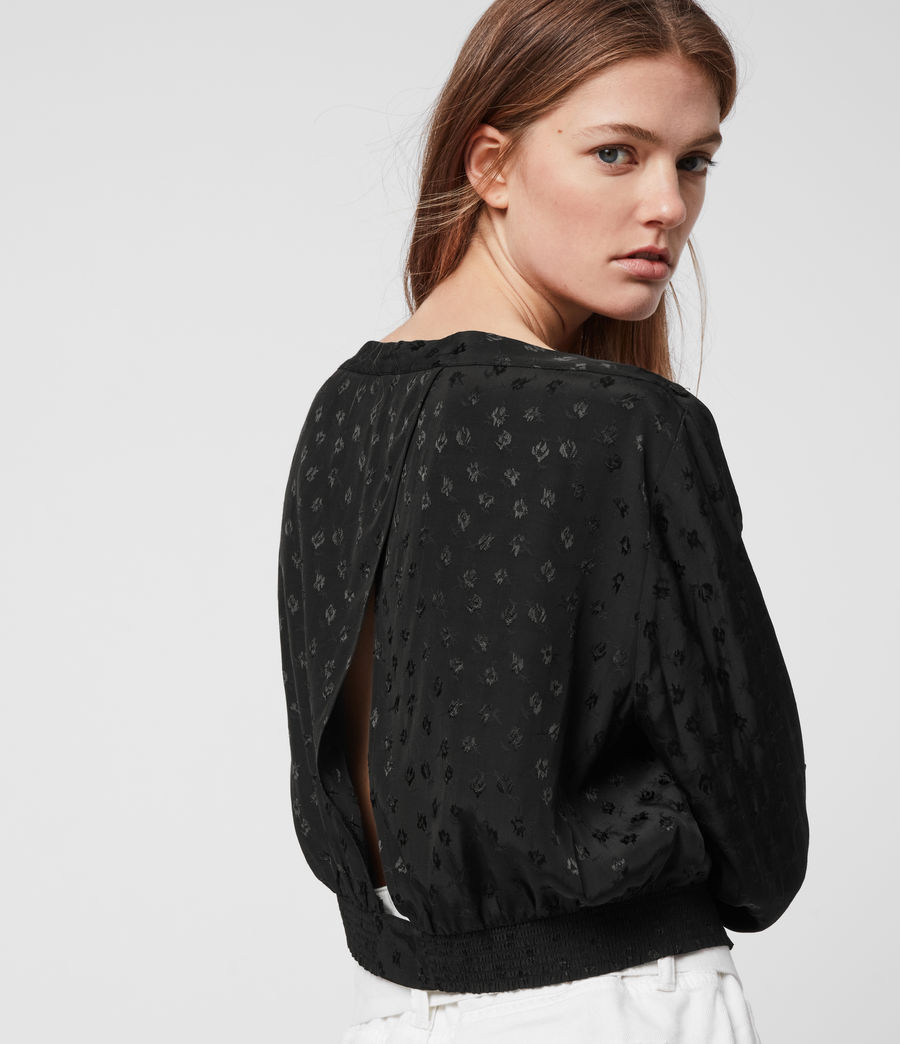 Womens Faustin Flora Top (black) - Image 2