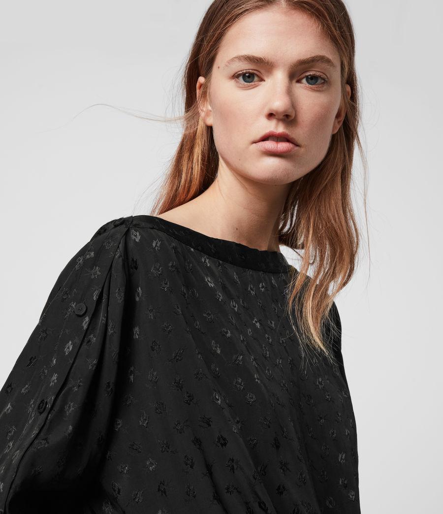 Womens Faustin Flora Top (black) - Image 5