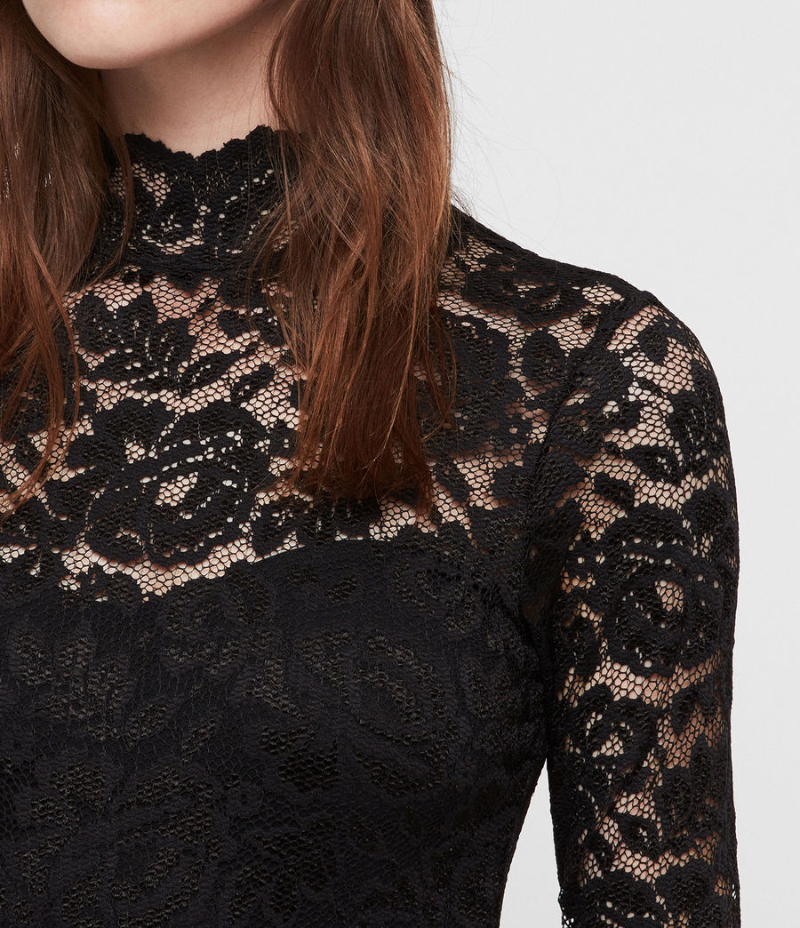 Women's Ellen Lace Bodysuit (black) - Image 2