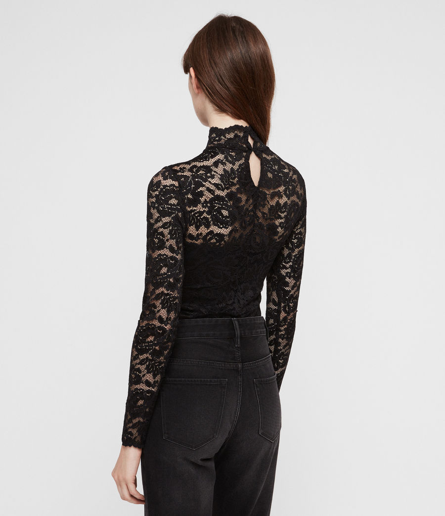 Women's Ellen Lace Bodysuit (black) - Image 4