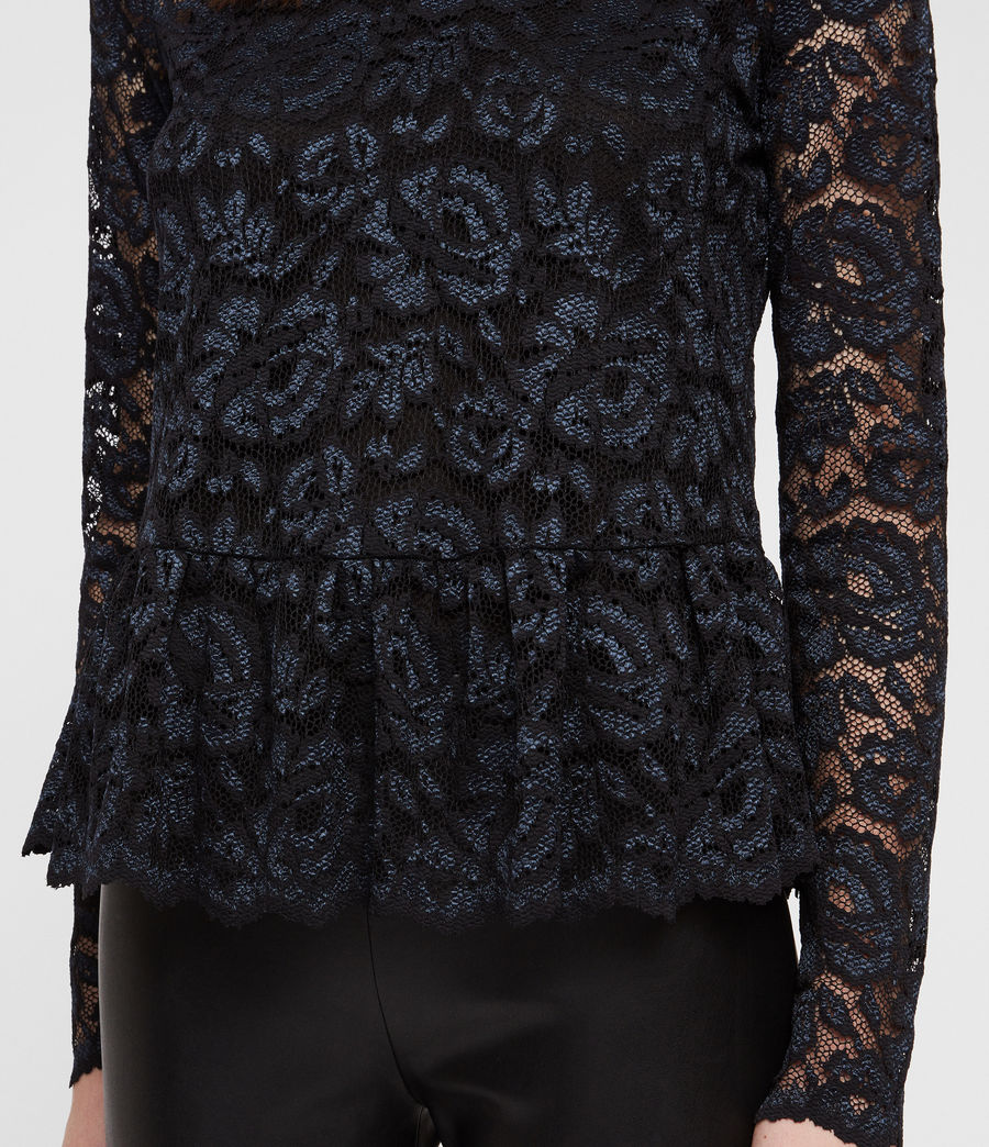 Women's Ellen Lace Top (dark_blue) - Image 2