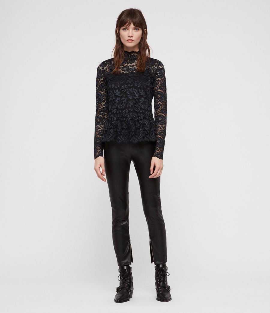Women's Ellen Lace Top (dark_blue) - Image 3