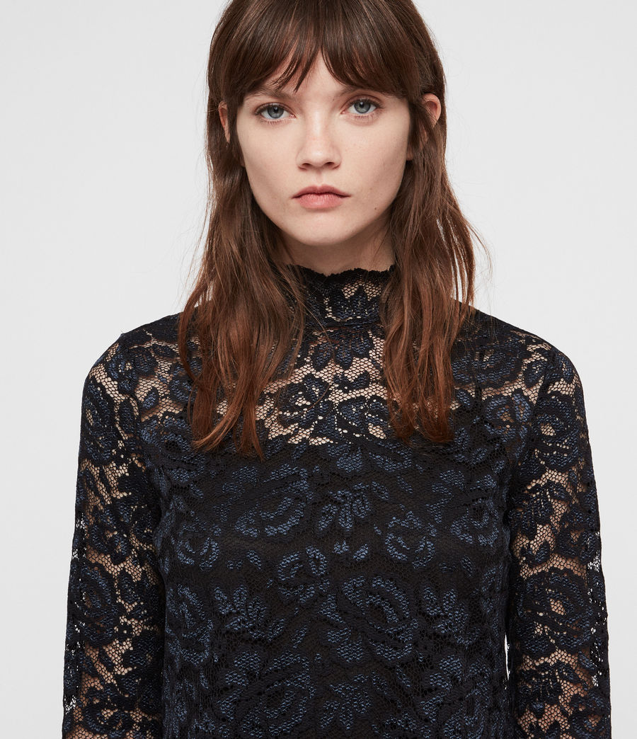 Women's Ellen Lace Top (dark_blue) - Image 4