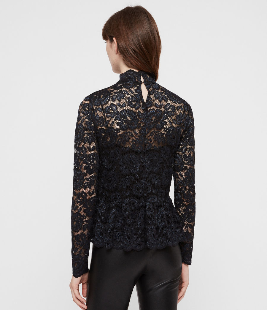 Women's Ellen Lace Top (dark_blue) - Image 5