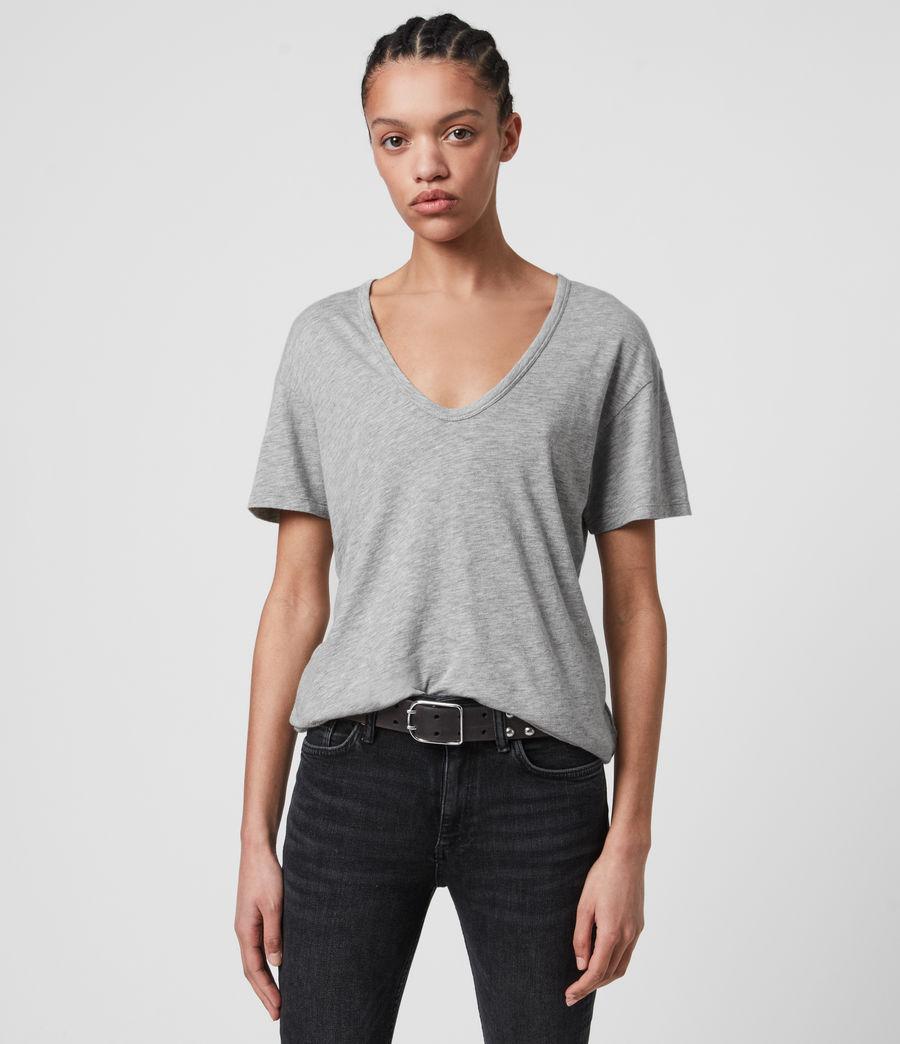 Femmes T-Shirt Manches Courtes Mia Fifi (grey_marl) - Image 1