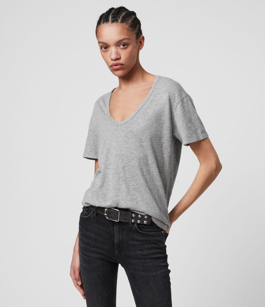 Womens Mia Fifi T-Shirt (grey_marl) - Image 4