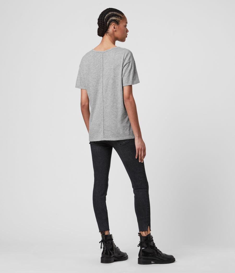 Femmes T-Shirt Manches Courtes Mia Fifi (grey_marl) - Image 5