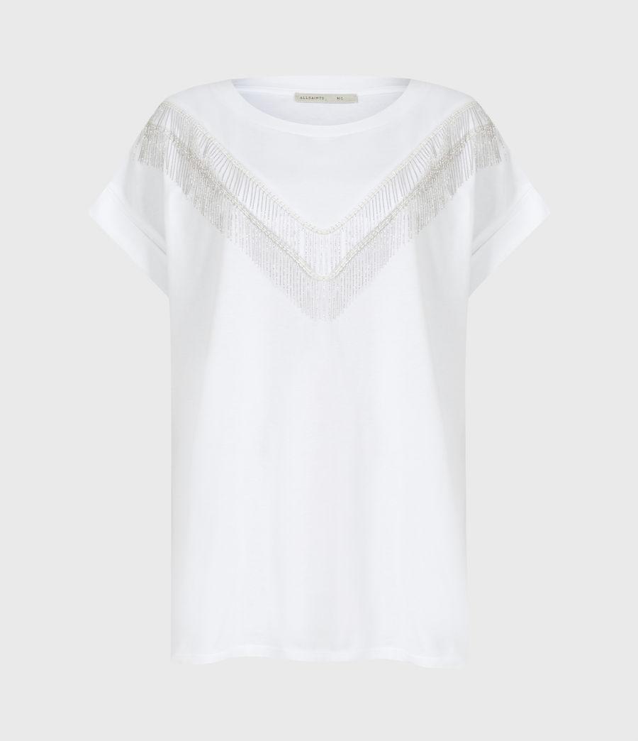 Women's Imogen Boy Chain T-Shirt (optic_white) - Image 2