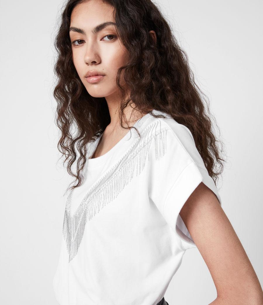 Women's Imogen Boy Chain T-Shirt (optic_white) - Image 4