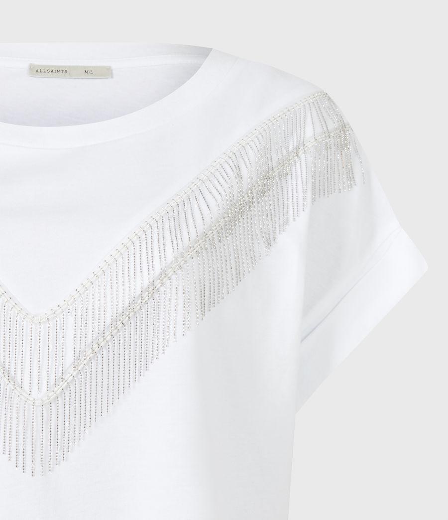 Women's Imogen Boy Chain T-Shirt (optic_white) - Image 5