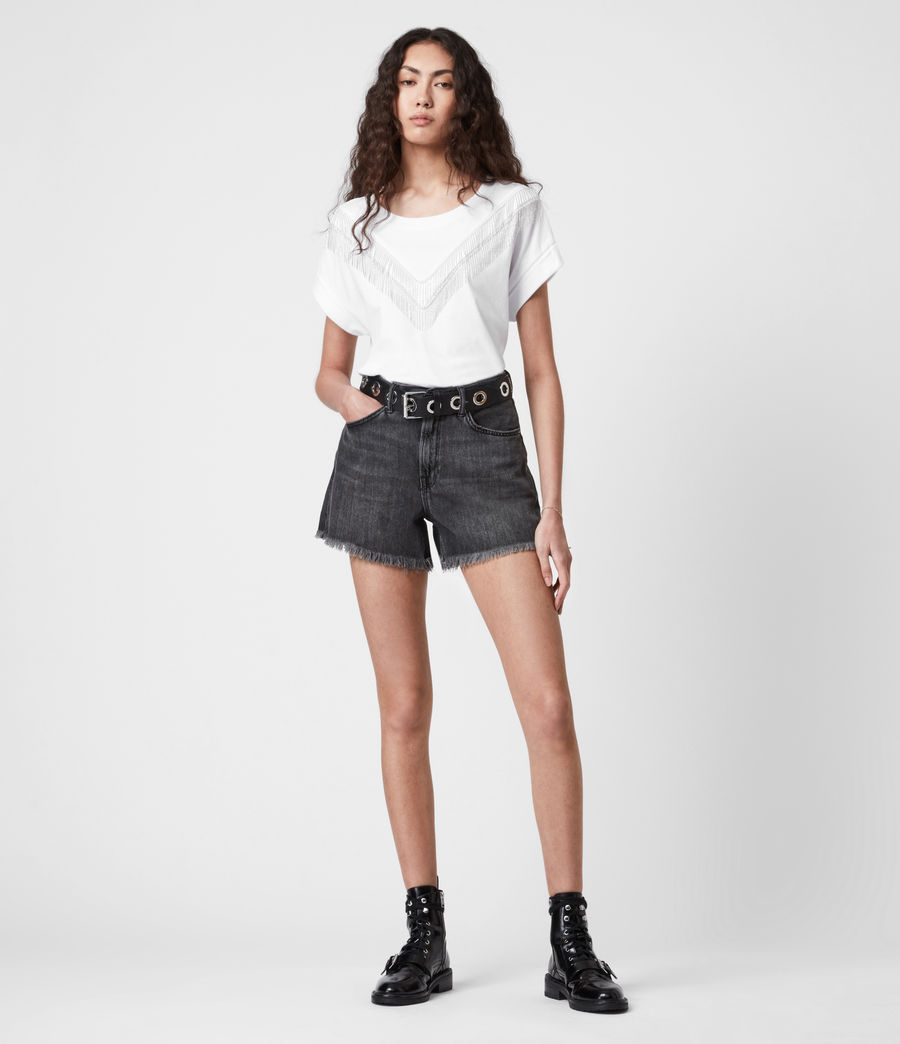 Women's Imogen Boy Chain T-Shirt (optic_white) - Image 6