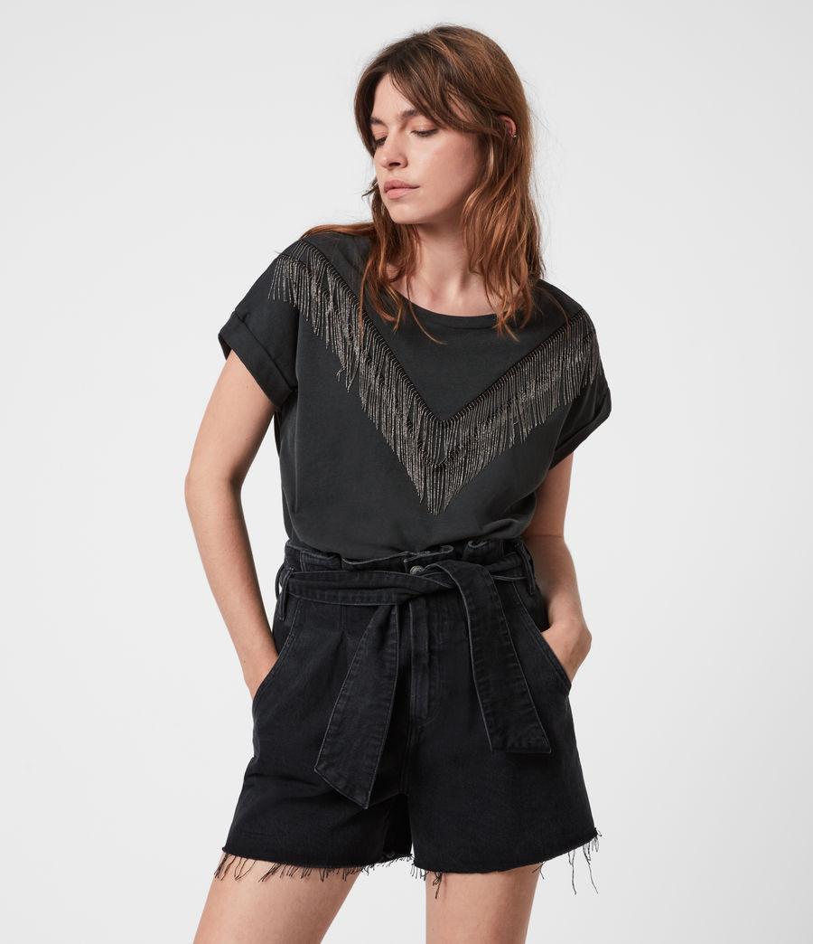 Women's Imogen Boy Chain T-Shirt (vintage_black) - Image 1