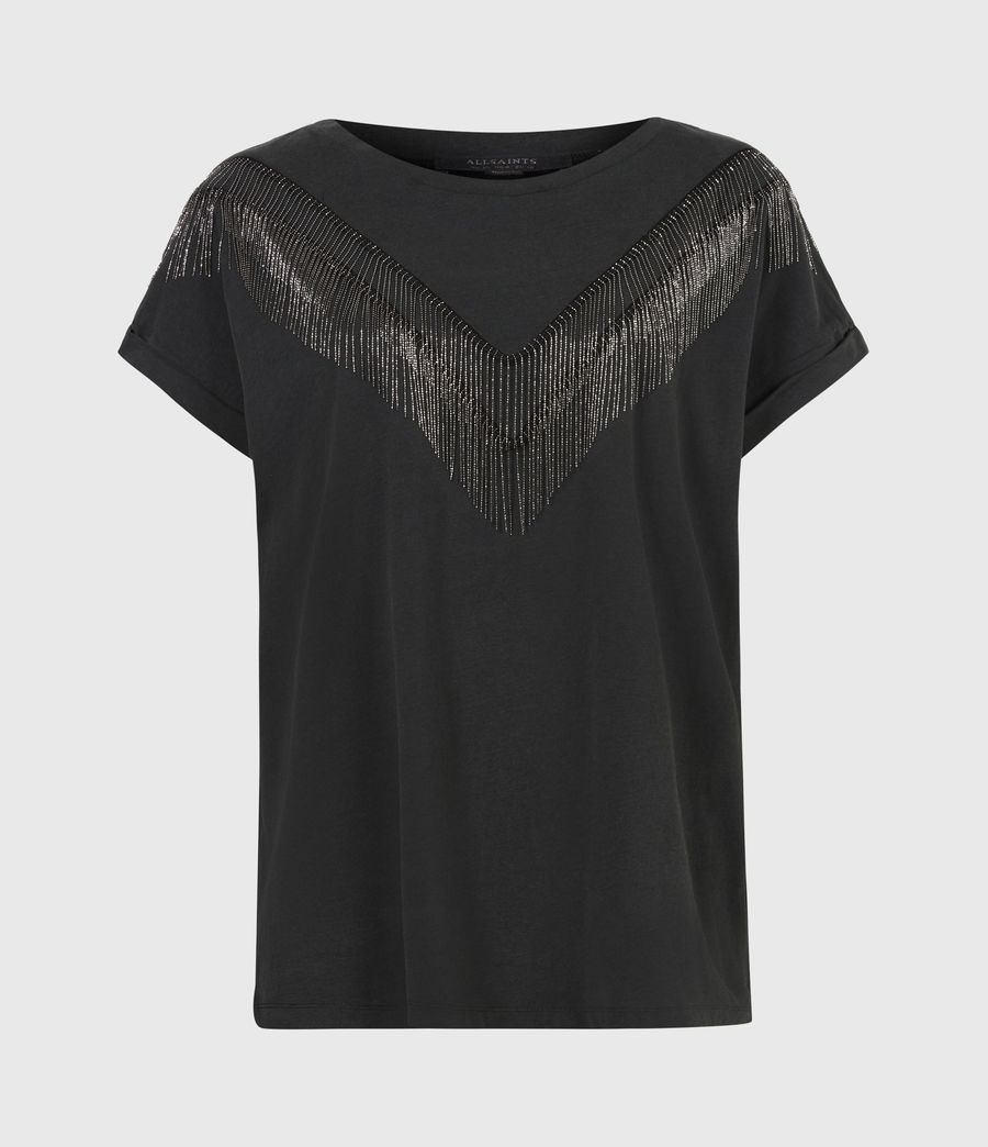 Women's Imogen Boy Chain T-Shirt (vintage_black) - Image 2