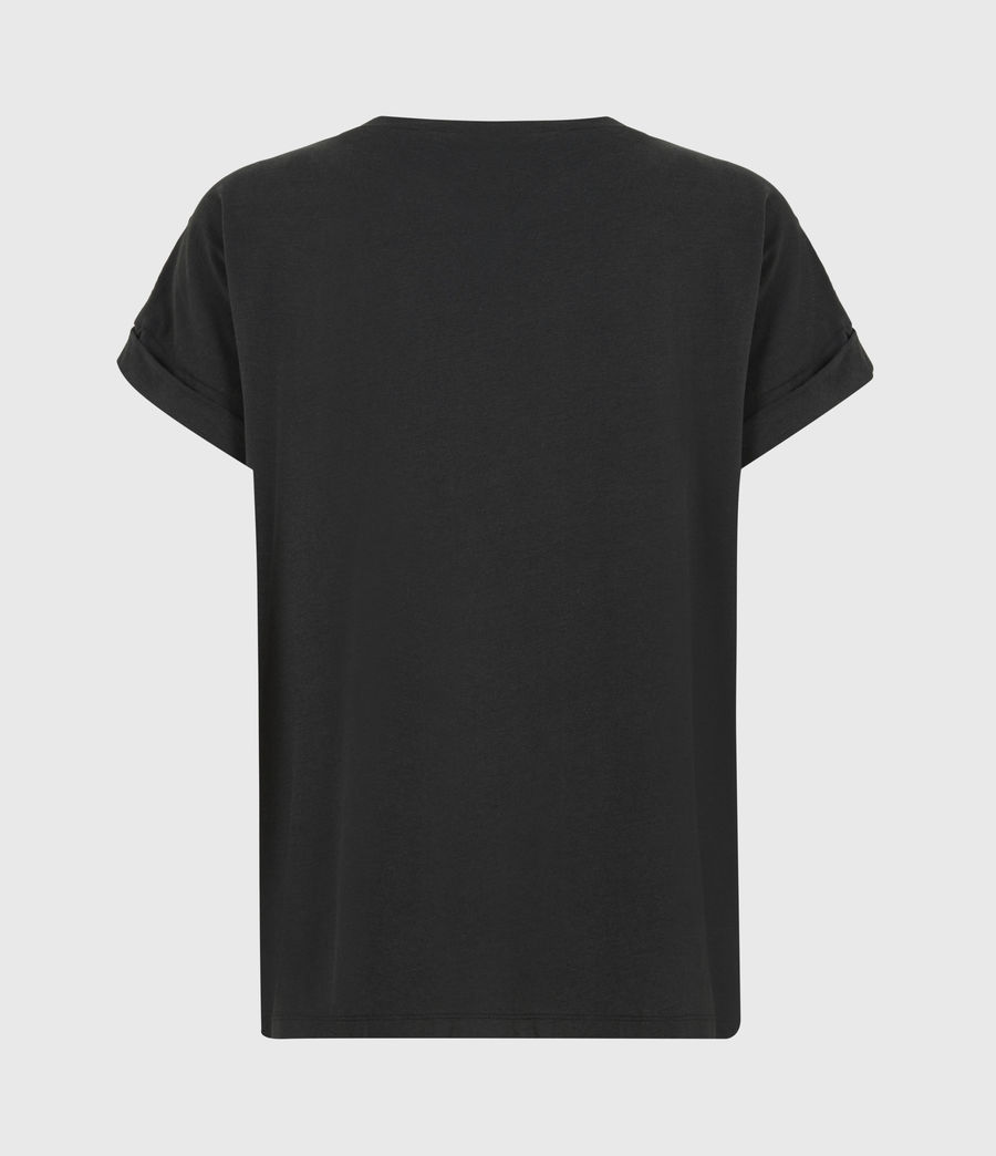 Women's Imogen Boy Chain T-Shirt (vintage_black) - Image 3