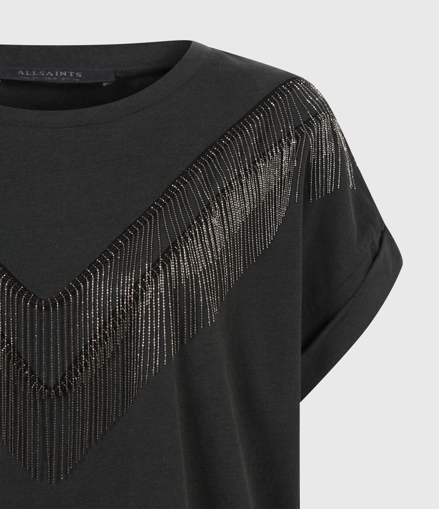 Women's Imogen Boy Chain T-Shirt (vintage_black) - Image 5