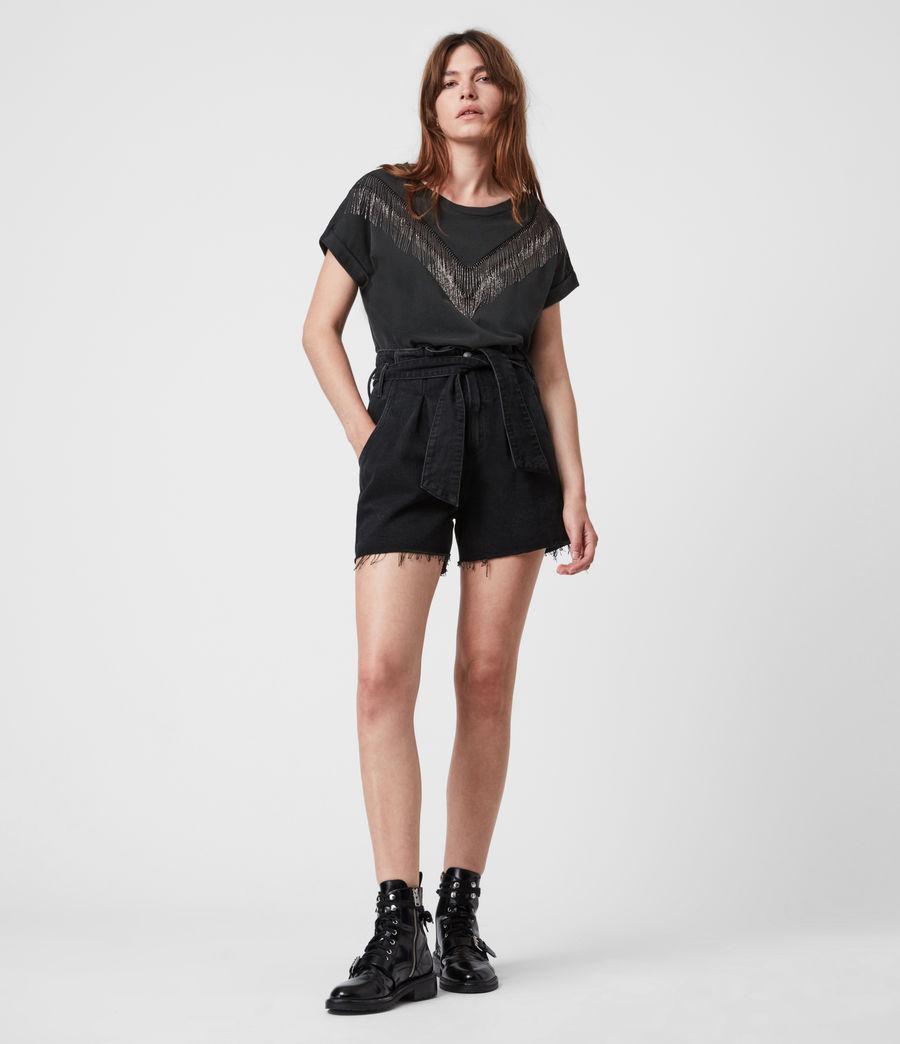 Women's Imogen Boy Chain T-Shirt (vintage_black) - Image 6
