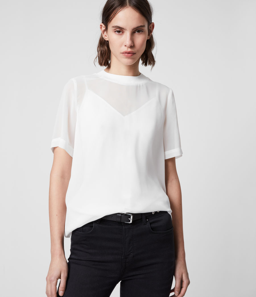 Women's Trace Top (chalk_white) - Image 1