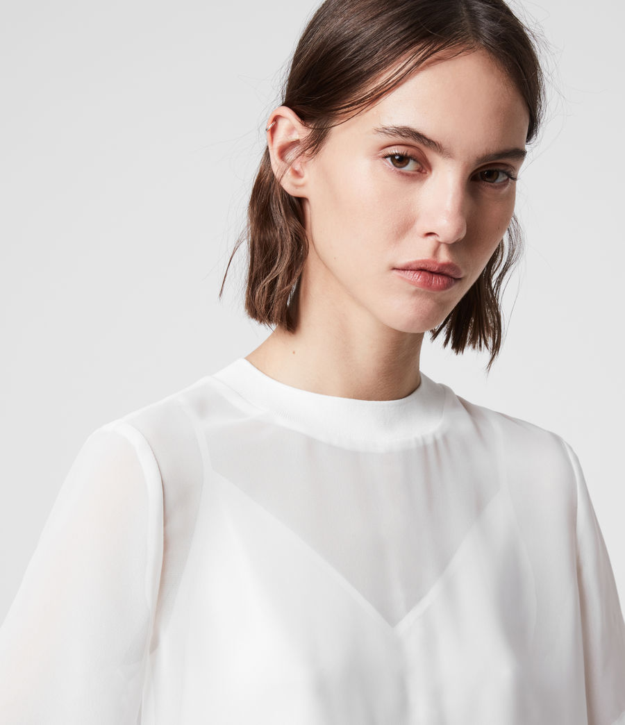 Women's Trace Top (chalk_white) - Image 2