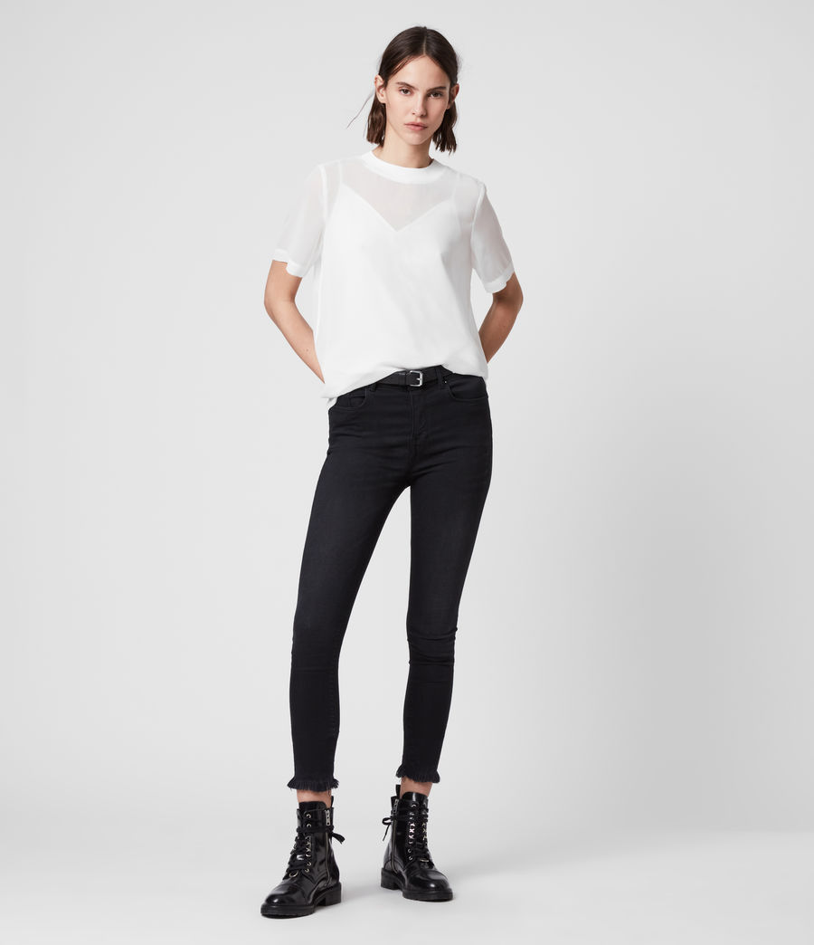 Women's Trace Top (chalk_white) - Image 3
