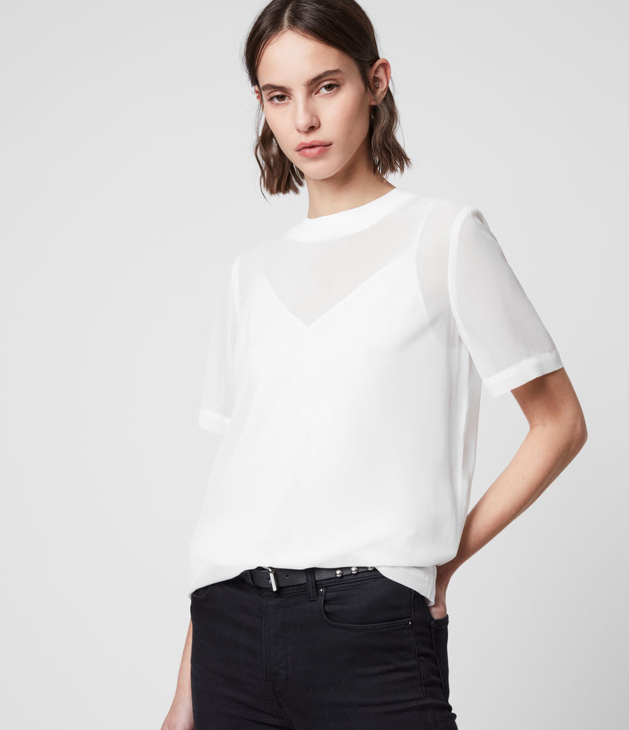 Women's Trace Top (chalk_white) - Image 4