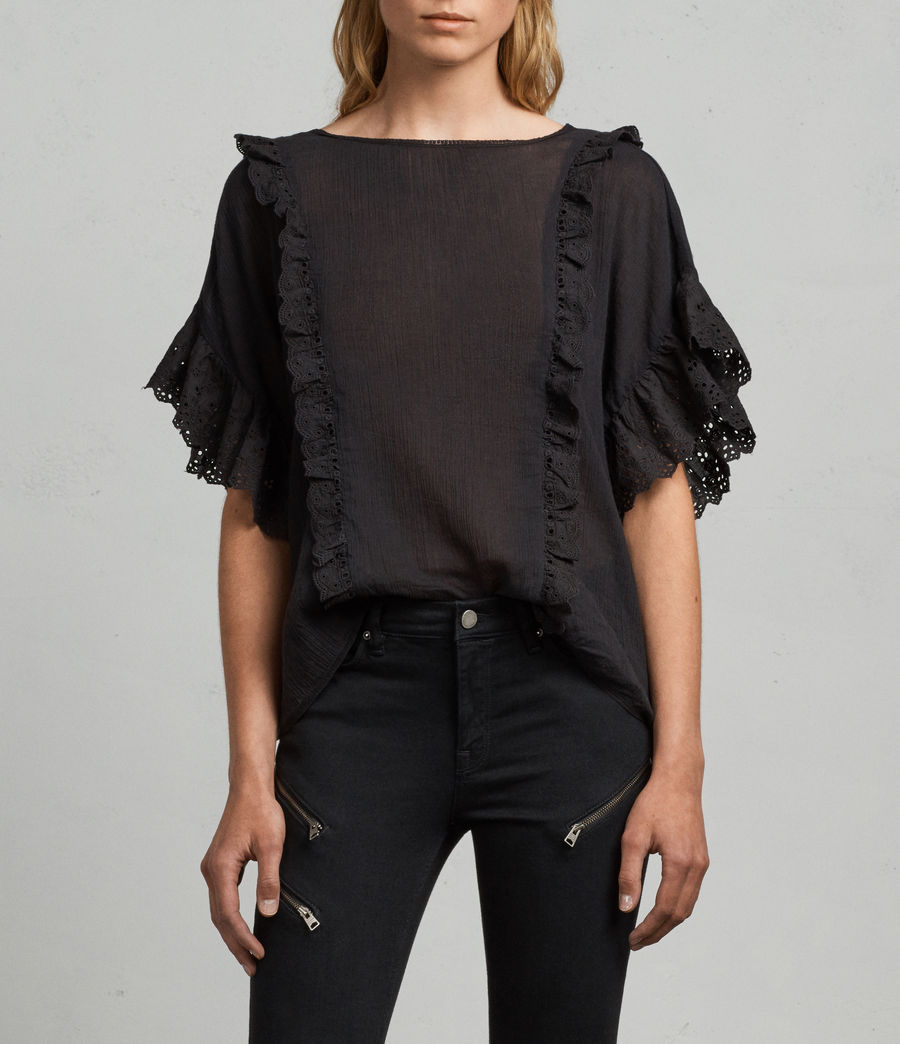 Mujer Camiseta Isa (black) - Image 1