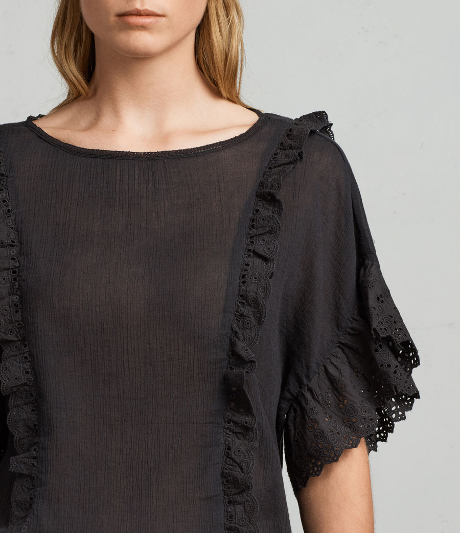 Donne T-shirt Isa (black) - Image 2