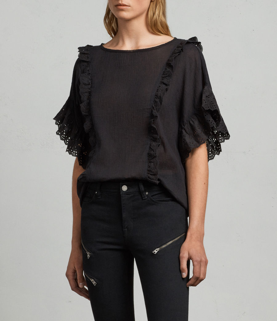 Donne T-shirt Isa (black) - Image 3