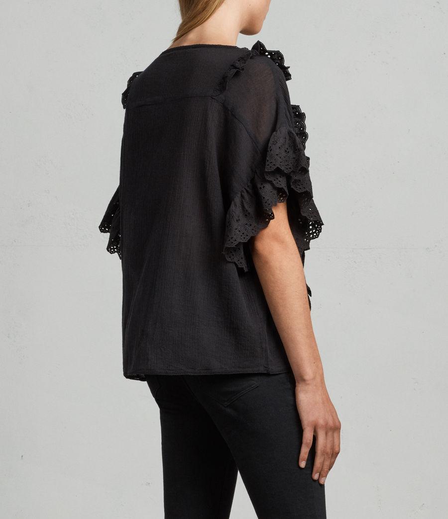 Donne T-shirt Isa (black) - Image 4