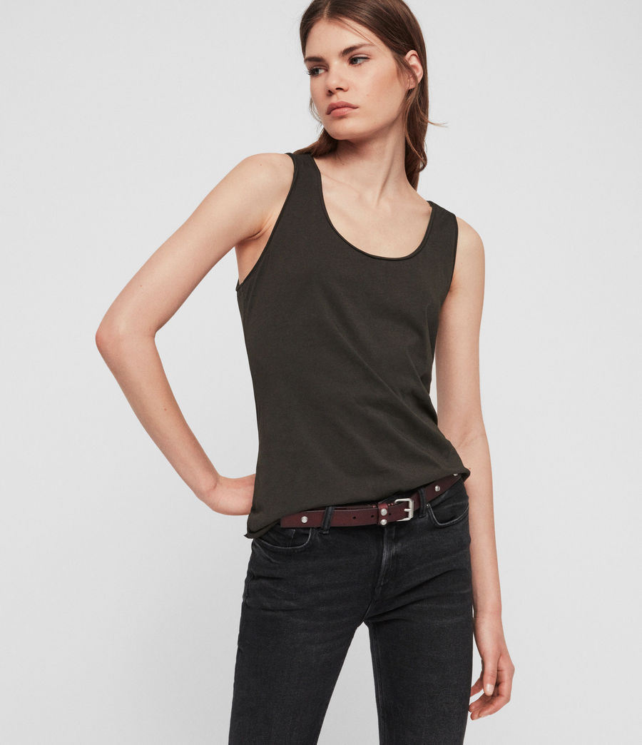 Womens Emelyn Tonic Tank (washed_black) - Image 2