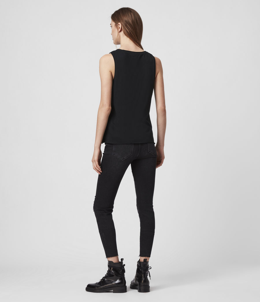 Womens Emelyn Tonic Tank (jet_black) - Image 4