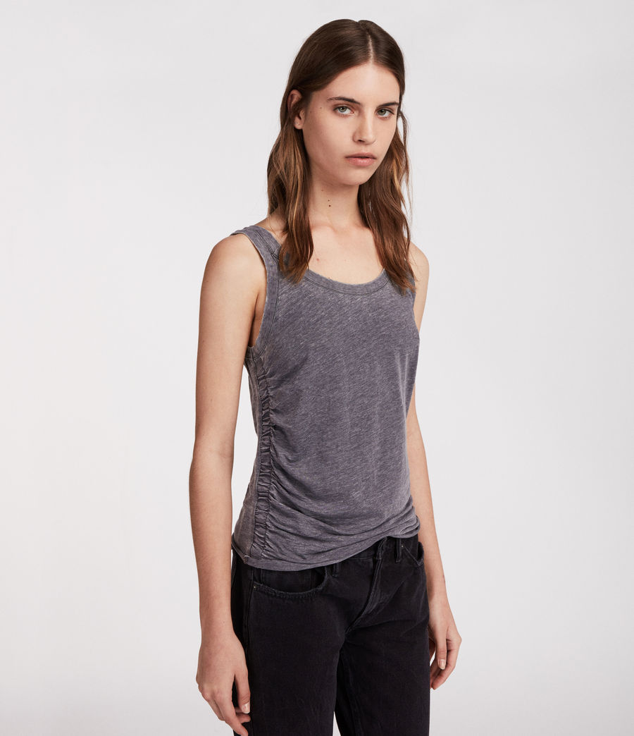 Women's Tina Devo Tank (coal_grey) - Image 2