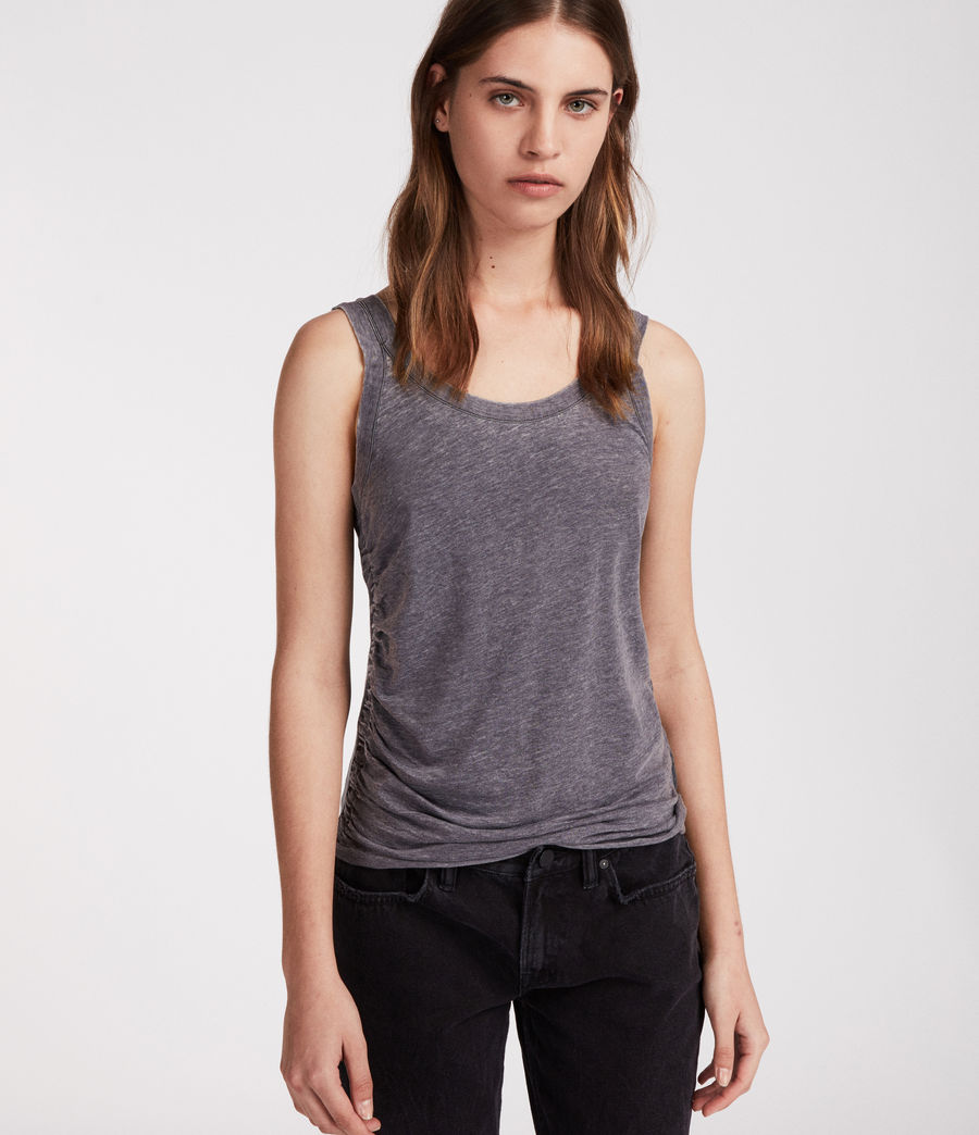 Women's Tina Devo Tank (coal_grey) - Image 3
