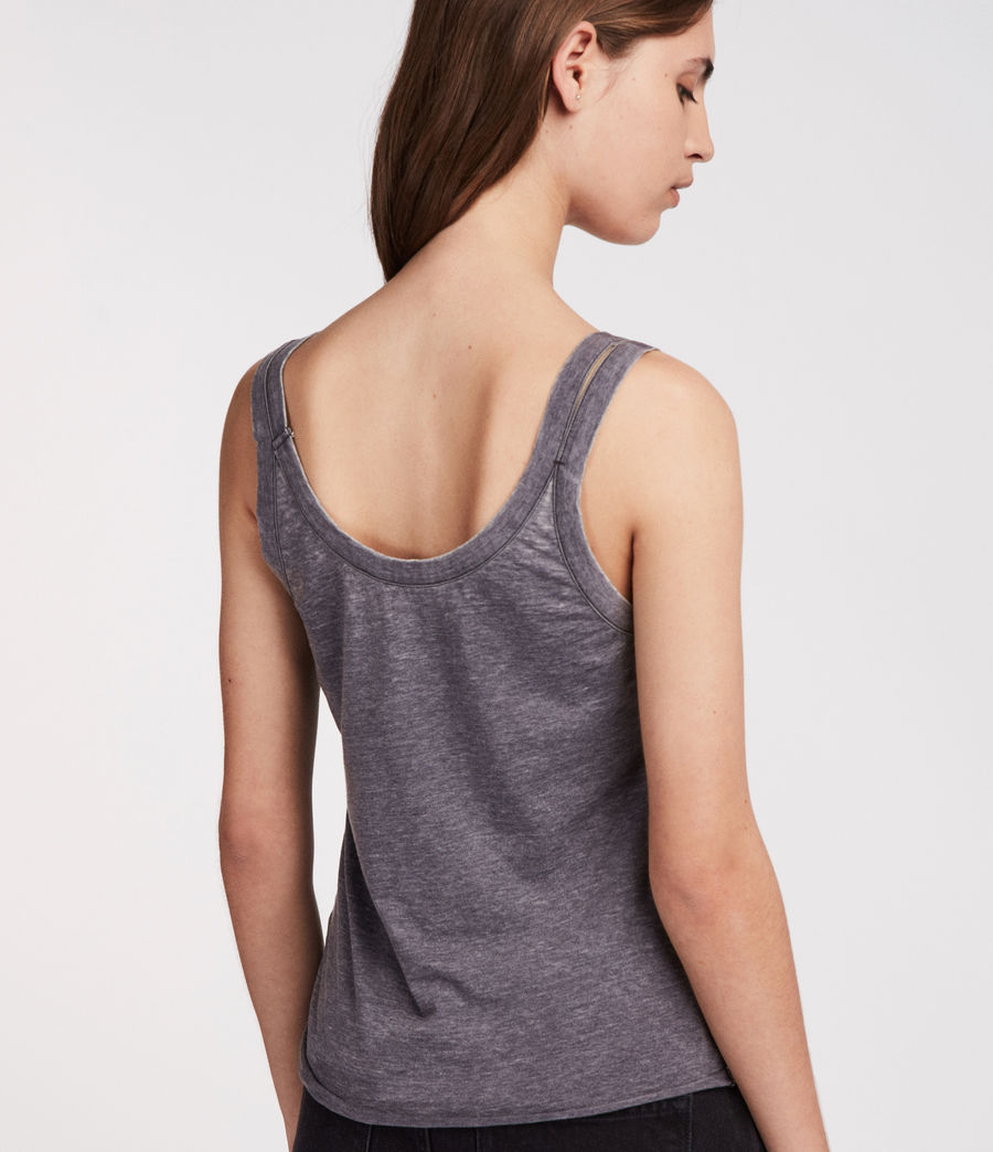 Women's Tina Devo Tank (coal_grey) - Image 4
