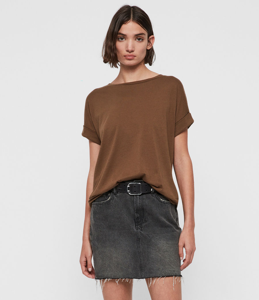 Women's Imogen Boy T-Shirt (khaki_green) - Image 1