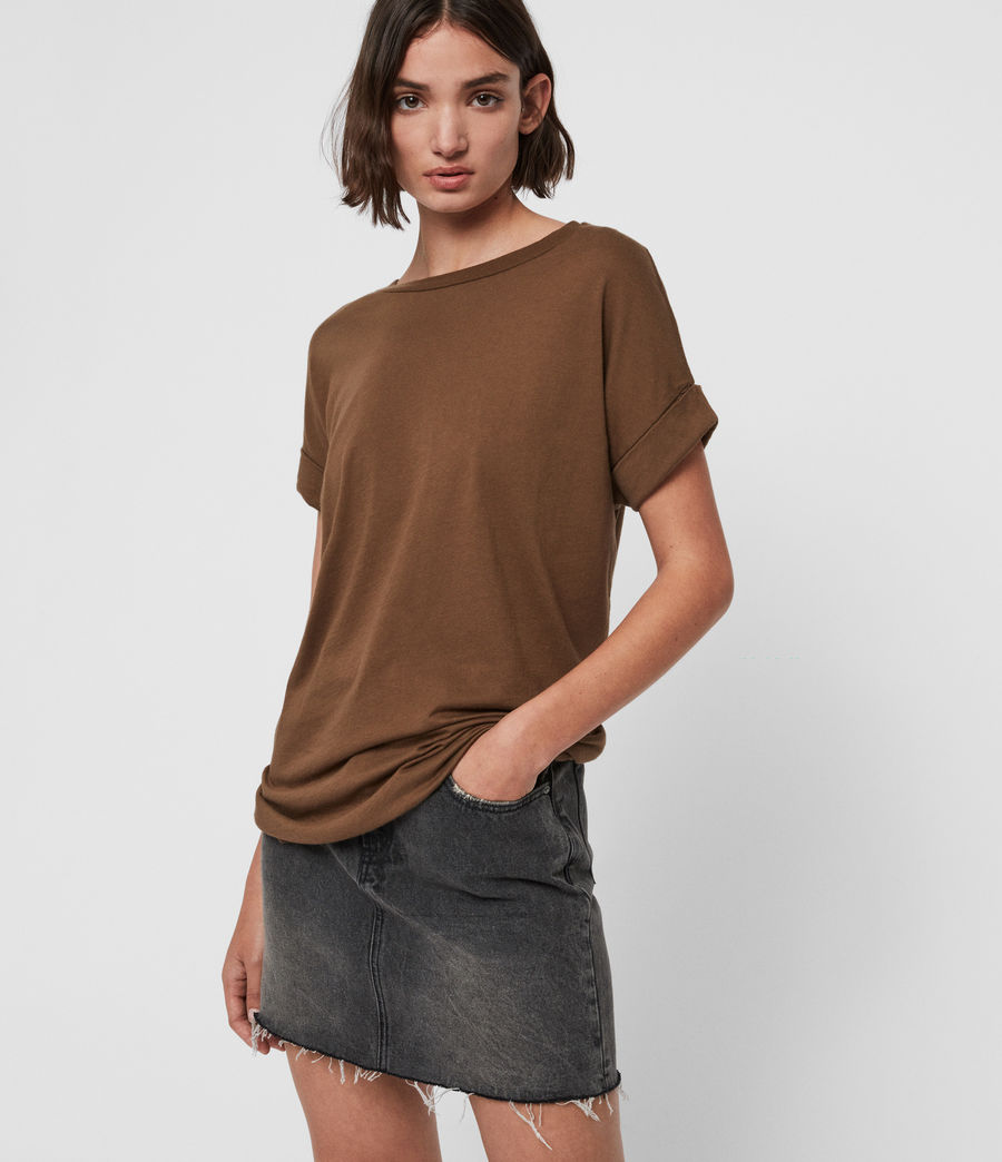 Women's Imogen Boy T-Shirt (khaki_green) - Image 2