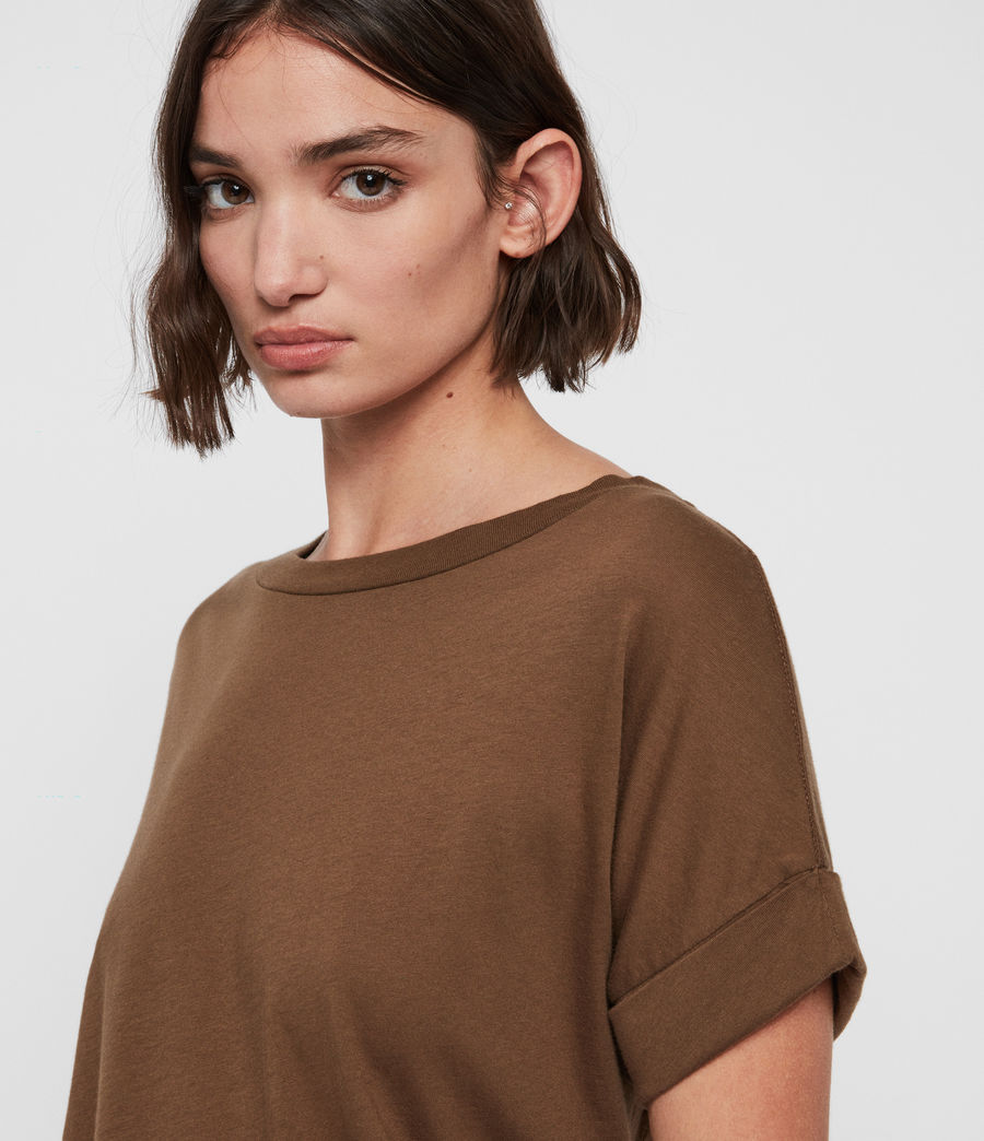 Women's Imogen Boy T-Shirt (khaki_green) - Image 3