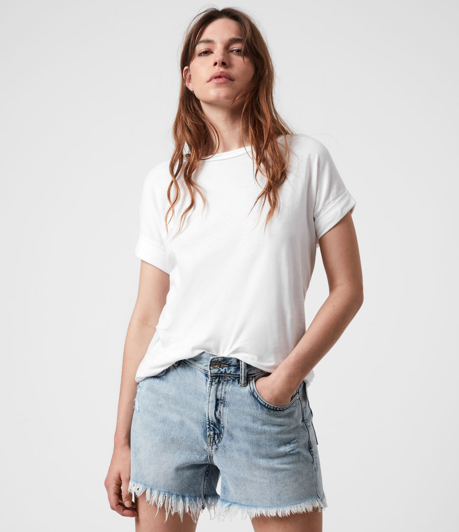 Damen Imogen Boy T-Shirt (optic_white) - Image 1
