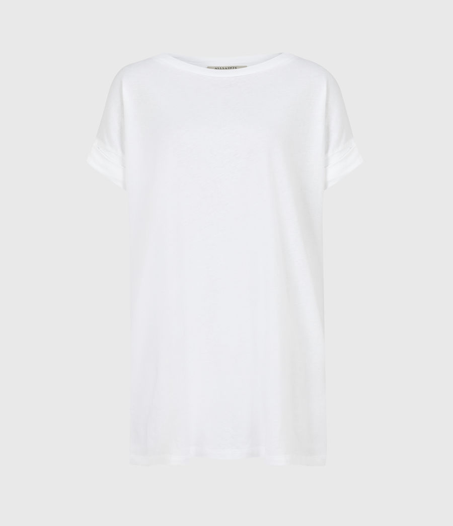 Women's Pure Cotton Imogen Boy T-Shirt (optic_white) - Image 2