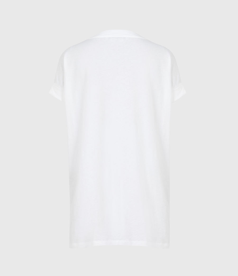 Women's Pure Cotton Imogen Boy T-Shirt (optic_white) - Image 3