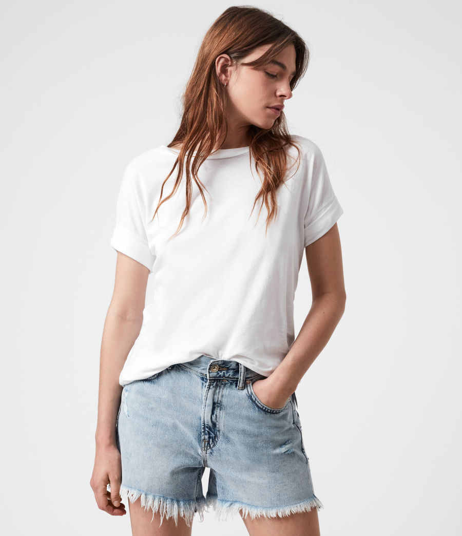 Damen Imogen Boy T-Shirt (optic_white) - Image 4