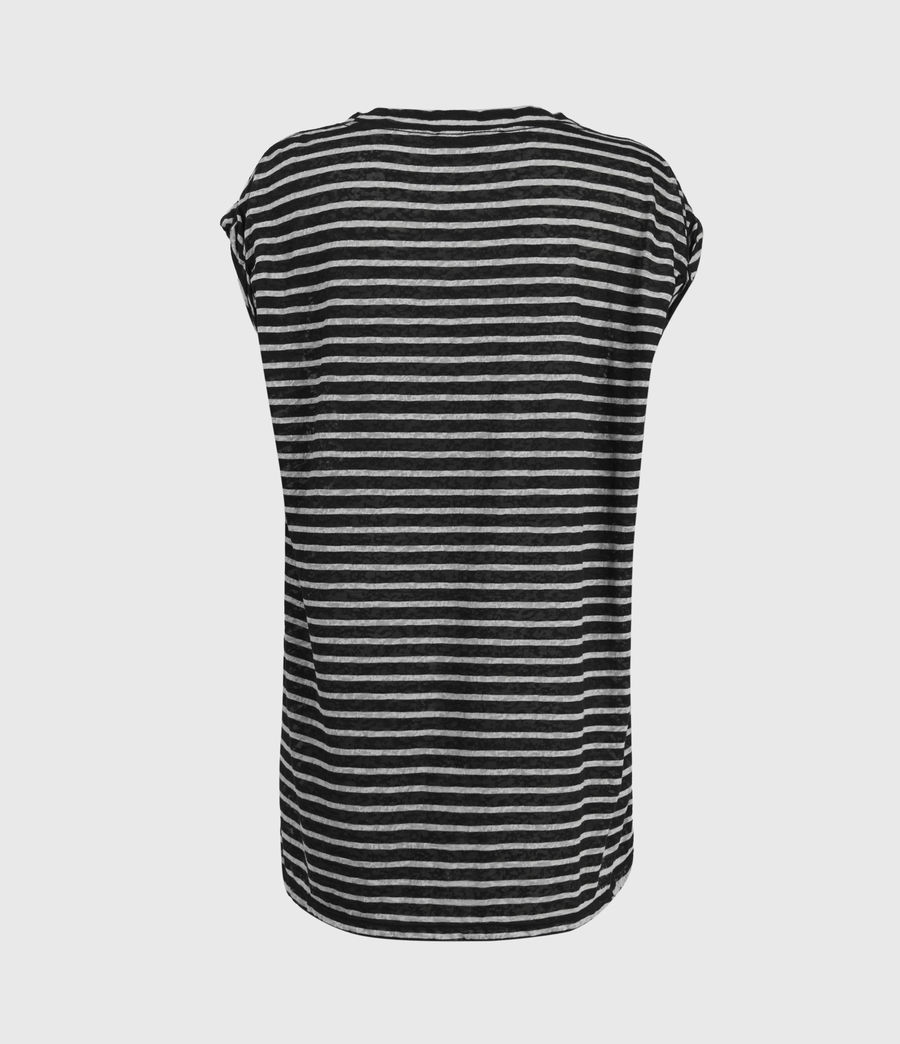 Womens Sanza Stripe Tank (black_chalk) - Image 2