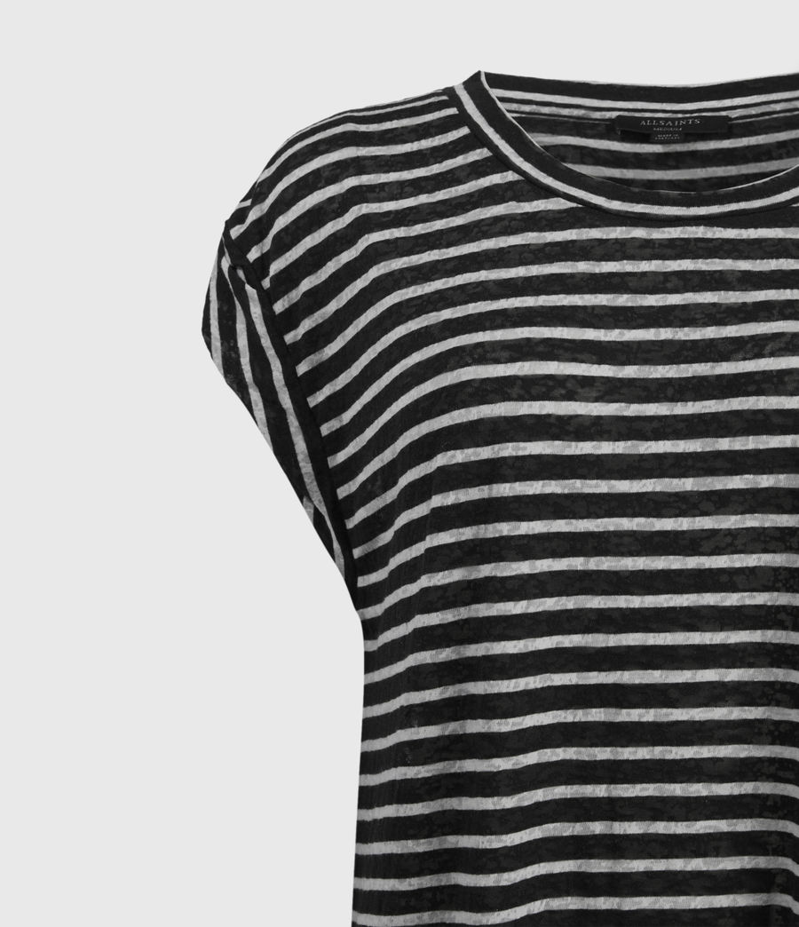 Womens Sanza Stripe Tank (black_chalk) - Image 3