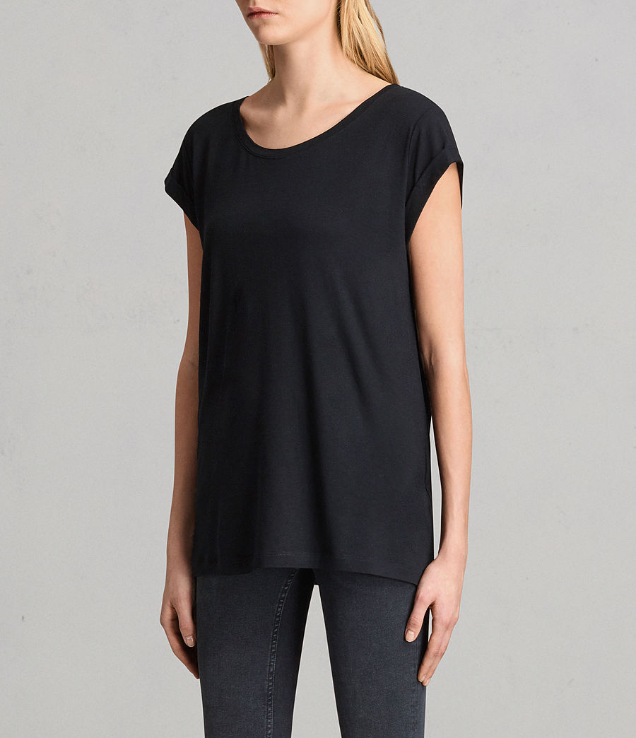 Womens Alisee T-Shirt (black) - Image 2