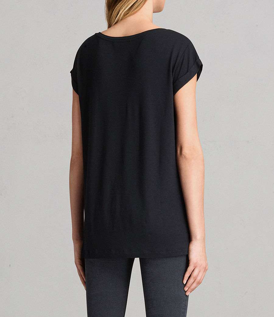 Womens Alisee T-Shirt (black) - Image 3