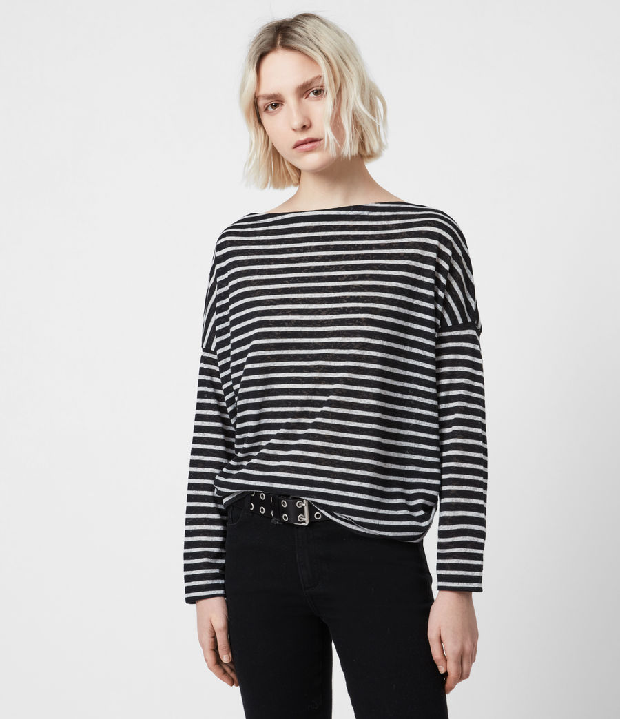 Donne Rita Stripe T-Shirt (black_chalk) - Image 1