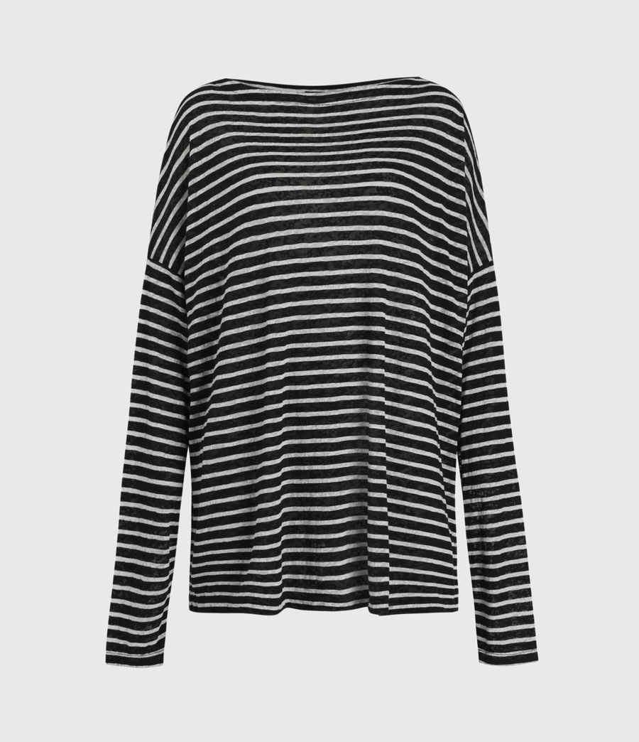 Damen Rita Stripe T-Shirt (black_chalk) - Image 2