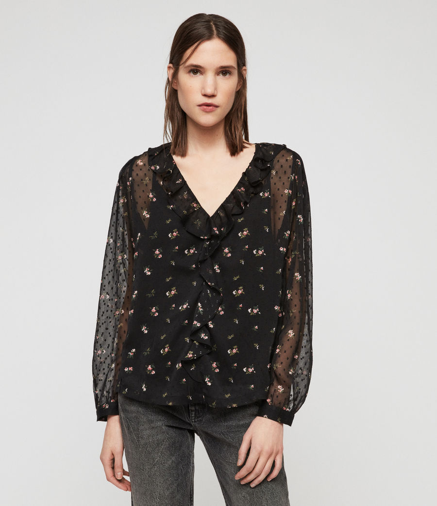 Women's Ari Aster Top (black) - Image 1