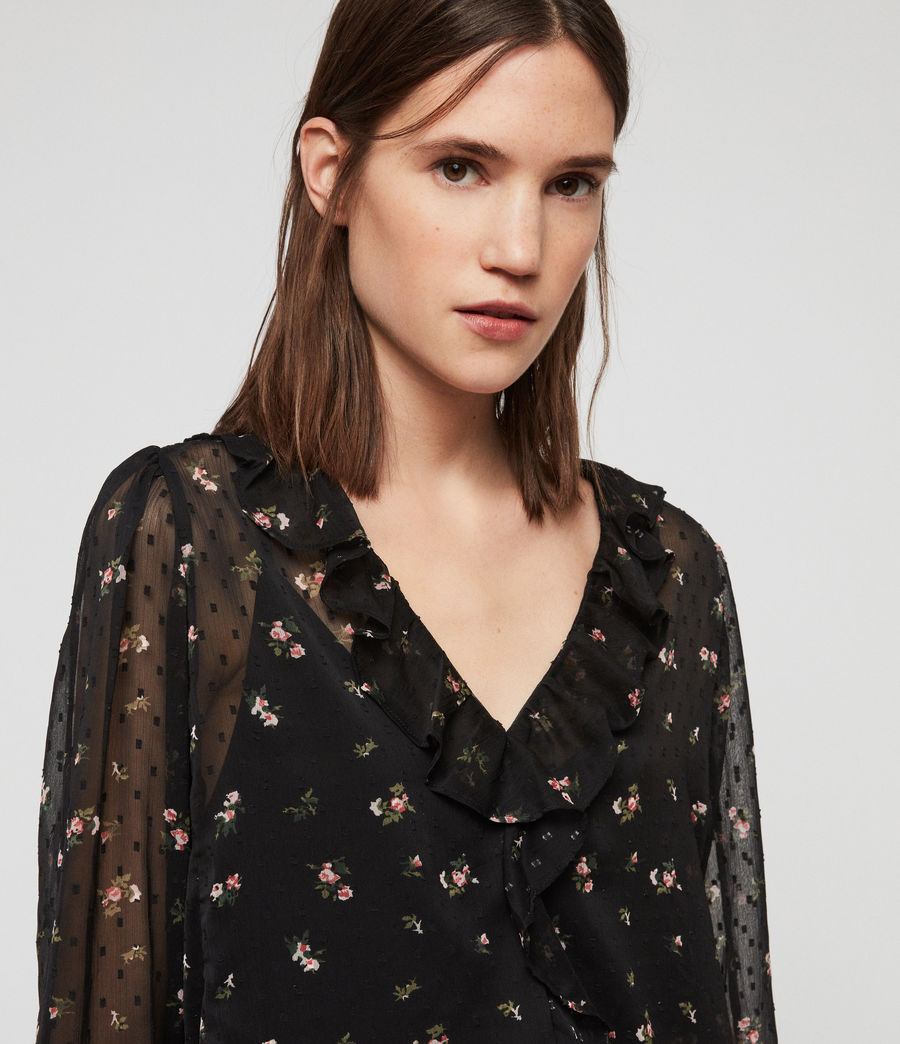Women's Ari Aster Top (black) - Image 2