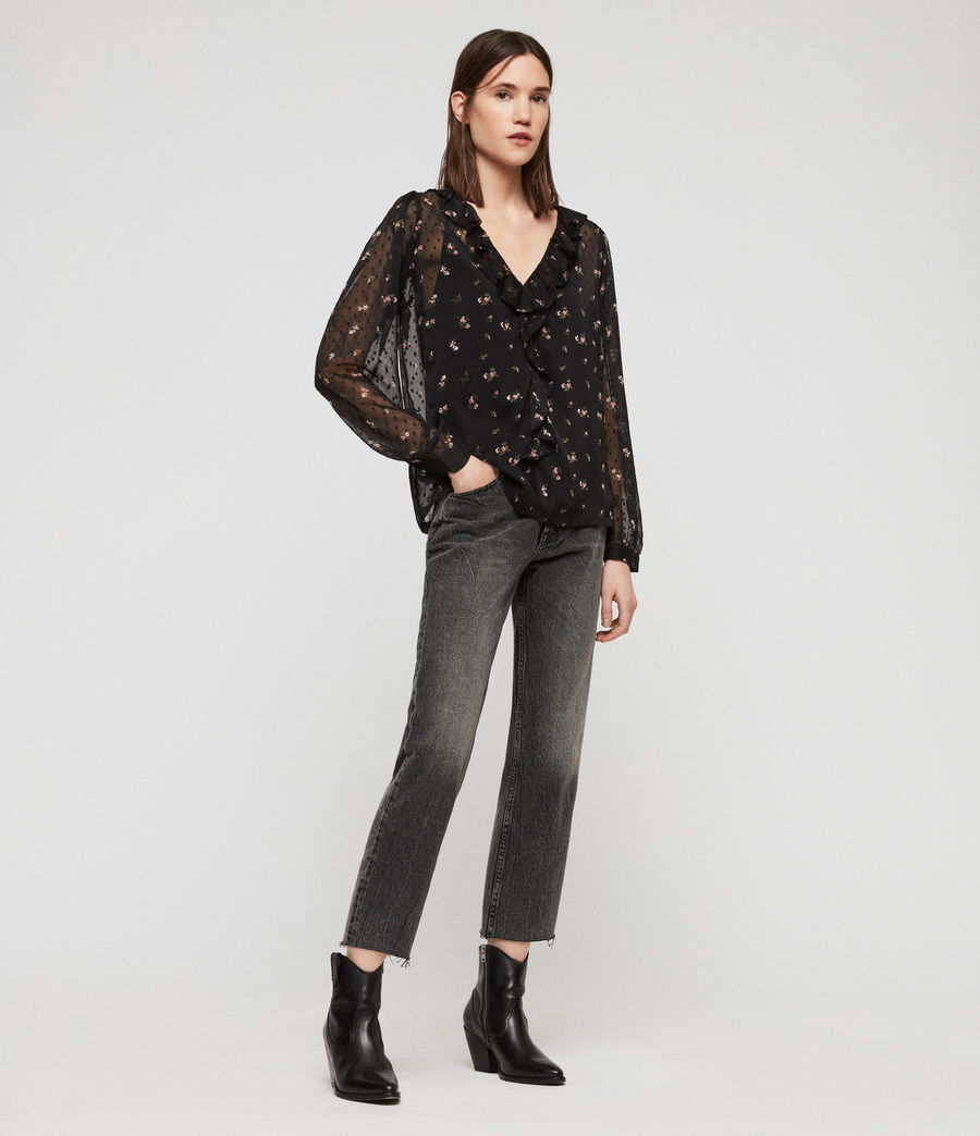 Women's Ari Aster Top (black) - Image 3