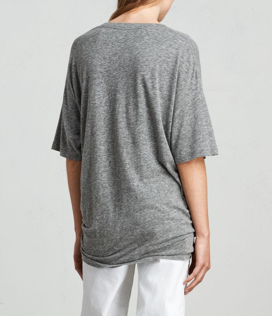 Womens Meli Flame T-Shirt (cinder_marl) - Image 4